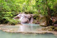 Erawan Waterfalls in Erawan National Park Royalty Free Stock Image