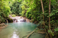 Erawan Waterfalls Thailand fairy atmosphere Stock Images