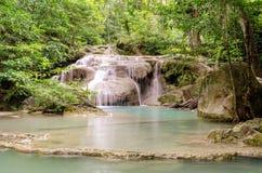 Erawan Waterfalls (Thailand) Stock Photography