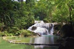 Erawan waterfalls Stock Photos