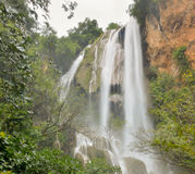 Erawan waterfalls. Erawan waterfall are big and beautiful in thailand Royalty Free Stock Images