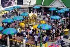 Erawantempel in Bangkok, Thailand stock afbeeldingen