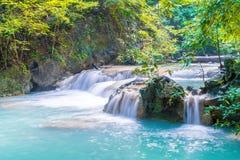 Erawanwaterval, het Nationale Park van Erawan in Kanchanaburi in Thaila Royalty-vrije Stock Fotografie