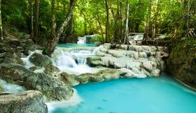 Erawanwatervallen, Thailand Royalty-vrije Stock Afbeelding