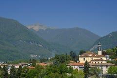 Erba科莫,意大利:风景 库存图片