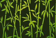 Erba asiatica giapponese della carta da parati della pianta del fondo di bambù Modello di bambù di vettore dell'albero royalty illustrazione gratis