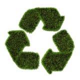 Erba che ricicla simbolo Fotografia Stock