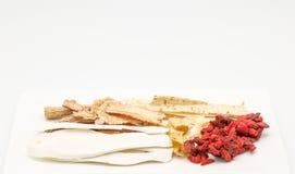 Erba cinese per produrre minestra Fotografia Stock