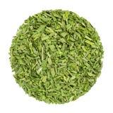 Erba cipollina secca, cerchio dell'erba da sopra, sopra bianco Fotografie Stock Libere da Diritti
