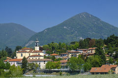 Erba Como, Italia: paesaggio Fotografie Stock Libere da Diritti