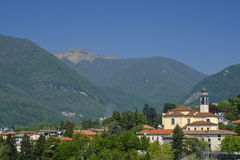 Erba Como, Italien: landskap Arkivbilder