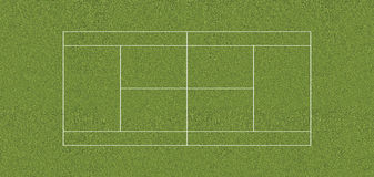ERBA del campo da tennis di regolamento Fotografia Stock