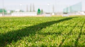 erba del campo di calcio fotografia stock libera da diritti