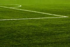 Erba del campo di calcio Immagini Stock Libere da Diritti