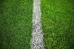 Erba del campo di calcio Fotografie Stock