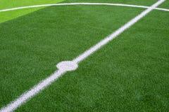 erba del campo di calcio Immagine Stock Libera da Diritti