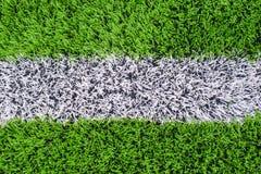 erba del campo di calcio Fotografia Stock