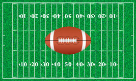 Erba del campo di football americano Immagini Stock Libere da Diritti