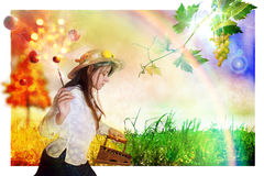 Erba del ferro di autunno illustrazione vettoriale
