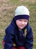 erba del ragazzo piccolo Fotografia Stock Libera da Diritti