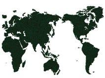 Erba della mappa di mondo Fotografia Stock Libera da Diritti