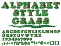 Erba di stile di alfabeto Immagini Stock