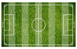 Erba di un campo di calcio Fondo del campo di calcio o del campo di football americano Fotografia Stock