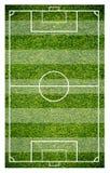 Erba di un campo di calcio Fondo del campo di calcio o del campo di football americano Immagini Stock