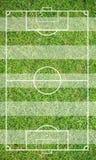 Erba di un campo di calcio Fondo del campo di calcio o del campo di football americano Fotografia Stock Libera da Diritti