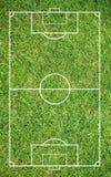 Erba di un campo di calcio Fondo del campo di calcio o del campo di football americano Fotografie Stock