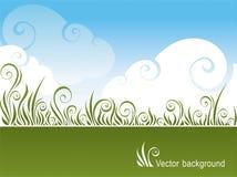 Erba ed il cielo illustrazione di stock