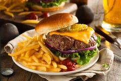 Erba Fed Bison Hamburger fotografie stock