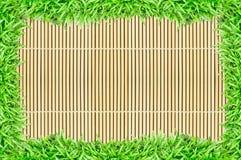 Erba il blocco per grafici sulla priorità bassa di bambù di struttura Fotografie Stock