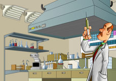 Erba medica in laboratorio Fotografia Stock