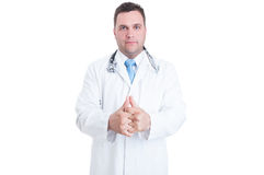 Erba medica o medico maschio che fende le sue articolazioni come la sensibilità pronta Immagine Stock