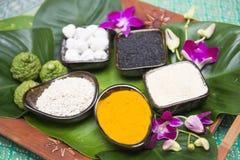 Erba tailandese per la stazione termale di massaggio del residuo Immagine Stock Libera da Diritti