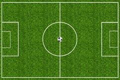 Erba verde del campo di calcio Immagine Stock Libera da Diritti