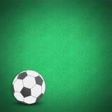 Erba verde della sfera di calcio di gioco del calcio Immagine Stock