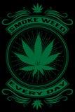 Erbaccia del fumo ogni giorno Immagine Stock Libera da Diritti