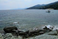 Erbalunga in Korsika Stockfoto