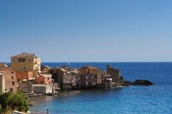Erbalunga Korsika Stockfotos