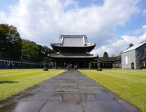 Erbarchitektur von Zuiryuji-Tempel in Takaoka lizenzfreies stockbild
