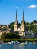 Erbaspagna/Lucerna in Svizzera Fotografie Stock Libere da Diritti