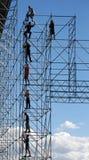 Erbauer auf hohem Aufbau Stockfoto