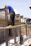 Erbauer bei der Arbeit Stockbilder