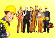 Erbauerarbeitskräfte Stockfoto