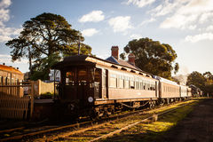 Erbdampf-Zug in Maldon Lizenzfreies Stockfoto