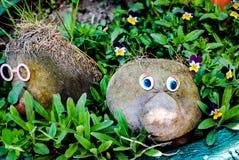 Erbe divertenti nel giardino fotografia stock libera da diritti