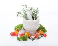Erbe e verdura fotografia stock