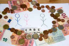 Erbe - the german wird for hertitage Royalty Free Stock Photography